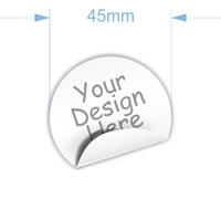 Picture of 45mm diam. Custom Sticker- 20 units