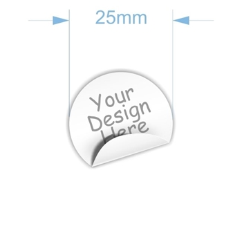 Picture of 25mm diam.  x 70 Custom Stickers