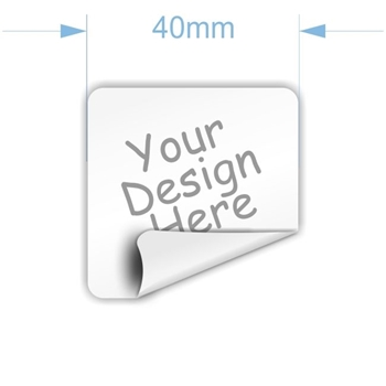 Picture of 40mm square custom sticker