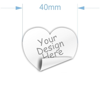 Picture of 40mm heart custom sticker