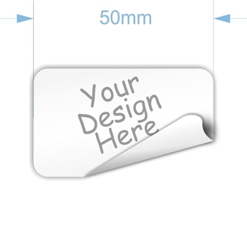 Picture of 50 x 30mm Rectangular Custom Sticker-32 p page