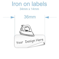 Picture of Iron on clothing labels  34mm x 14mm -  Set of 40  (CREATE YOUR OWN)