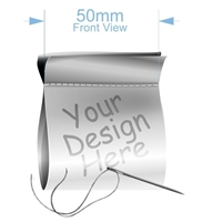 Picture of 50mm x 50mm White Sew in Label- SOLD IN SETS OF 40 labels