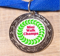 Picture of Silver Medal - custom printed sticker