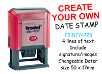 Picture of Create Your Own DATE Stamp 50 x 30mm