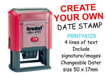 Picture for category Create Your Own Dater Stamp 50 x 30mm
