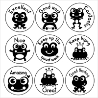 Picture of 9 x FROG Stamper Set- 20 mm Round