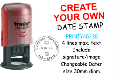 Picture for category Create Your Own Dater Stamp 30mm