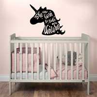 Picture of She was born to ride unicorns Wall Art