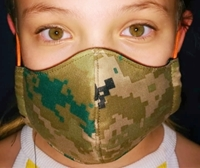 Picture of Mask Poly/Cotton Camo -Kids- adult size