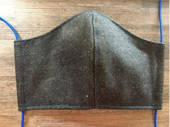 Picture of Mask Cotton Black Denim -Kids -Adult size