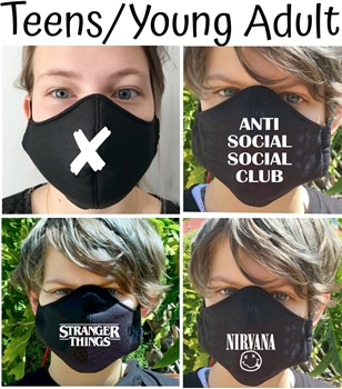 Picture of Teens & Young Adults Mask Cotton Black with image