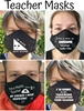 Picture of Teacher Mask -Cotton Black with  Image