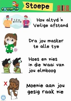 Picture of Poster Afrikaans-Covid19-Stoepe-Printed onto 135gsm Poster Paper