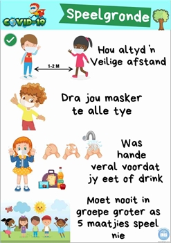 Picture of Poster Afrikaans-Covid19-Speelgronde-Printed onto 135gsm Poster Paper