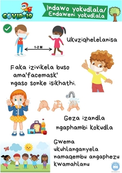 Picture of Poster Isizulu-Covid19-Indawo yokudlala (Playground)-Printed onto 135gsm Poster Paper