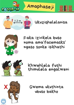 Picture of Poster Isizulu-Covid19-Amaphaseji  (Corridors)-Printed onto 135gsm Poster Paper