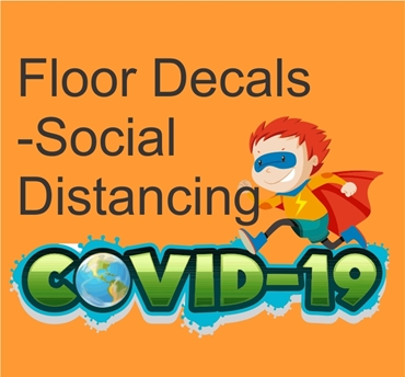 Picture for category COVID19 Floor Stickers/Decals
