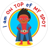 Picture of Social Distancing Stickers/Decals - Superhero-12 units