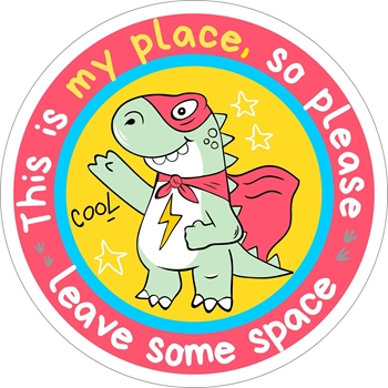 Picture of Social Distancing Stickers/Decals - Dino#2 -12 units