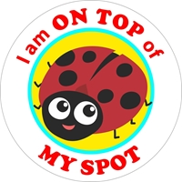 Picture of Social Distancing Stickers/Decals-Ladybug-12 units