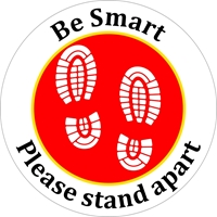 Picture of Social Distancing Stickers/Decals-Shoes Red