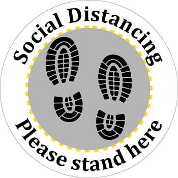 Picture of Social Distancing Stickers/Decals-Shoes#3