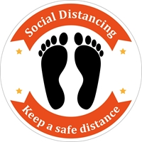 Picture of Social Distancing Stickers/Decals-Shoes#4