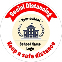 Picture of Social Distancing Stickers/Decals-Custom-Your logo here