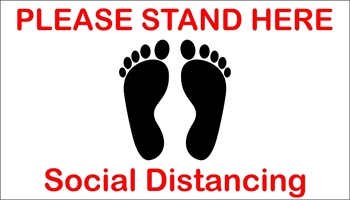 Picture of Social Distancing Stickers/Decals-Economy-30 units