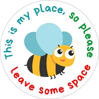 Picture of Social Distancing Stickers/Decals-Bee-12 units