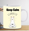 Picture of COVID-19 Keep Calm-Llamaste-Personalised mug