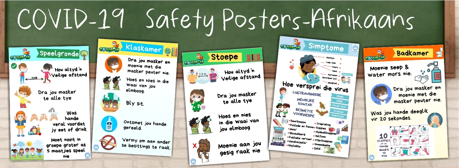 Afrikaans Covid 19 Posters for Classroom