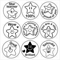 Picture of 9 x  STARS Stamper Set- 20 mm Round