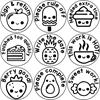 Picture of 9 x  SWEETS & CAKES Stamper Set- 20 mm Round