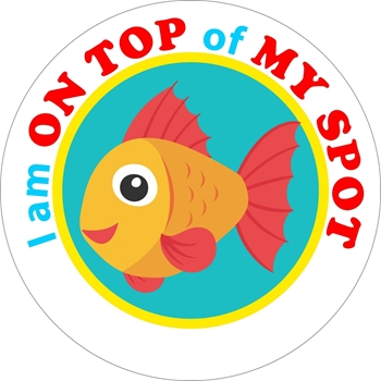 Picture of Social Distancing Stickers/Decals-Fish