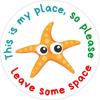 Picture of Social Distancing Stickers/Decals-Star fish