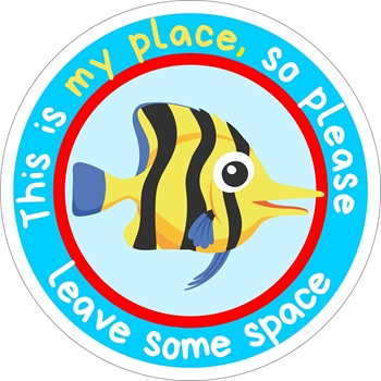 Picture of Social Distancing Stickers/Decals-Angel fish