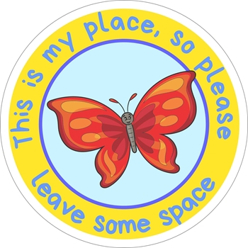 Picture of Social Distancing Stickers/Decals-Butterfly 2