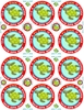 Picture of Social Distancing Stickers/Decals-Turtle