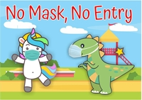 Picture of Signboard for School-No Mask, No entry