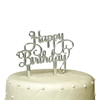 Picture of Cake Topper -Happy Birthday (Name) silver/gold