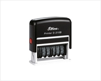 Picture of Dater + 7 Digit Nr + Text Stamp S-310B