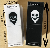 Picture of 20mm x 56mm :Edge of Garment, Polyester satin Tags  - 85  units