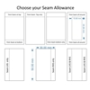 Choose your seam allowance