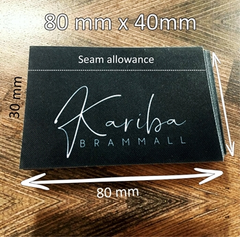 Picture of 80x 40mm Polyester Satin Tags- 25 units
