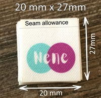 Picture of 20mm x 27mm Polyester Satin -180 units
