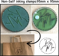 Picture of Stamper, Non self inking- Excludes Ink Pad-size 95mm x 95mm/round or square