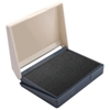 Includes ink pad (black textile ink)